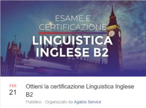 Ottieni la certificazione Linguistica Inglese B2