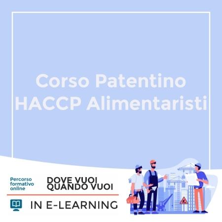 Corso Patentino HACCP Alimentaristi