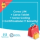 corso lim corso tablet corso coding certificazione it security